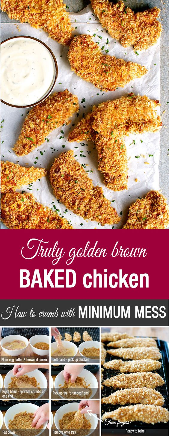 Truly Crispy Oven Baked Chicken Tenders