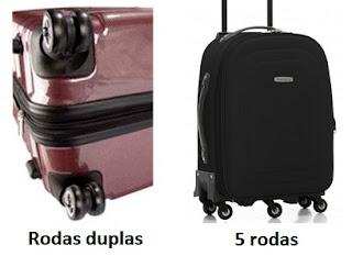 Malas com rodas duplas ou simples