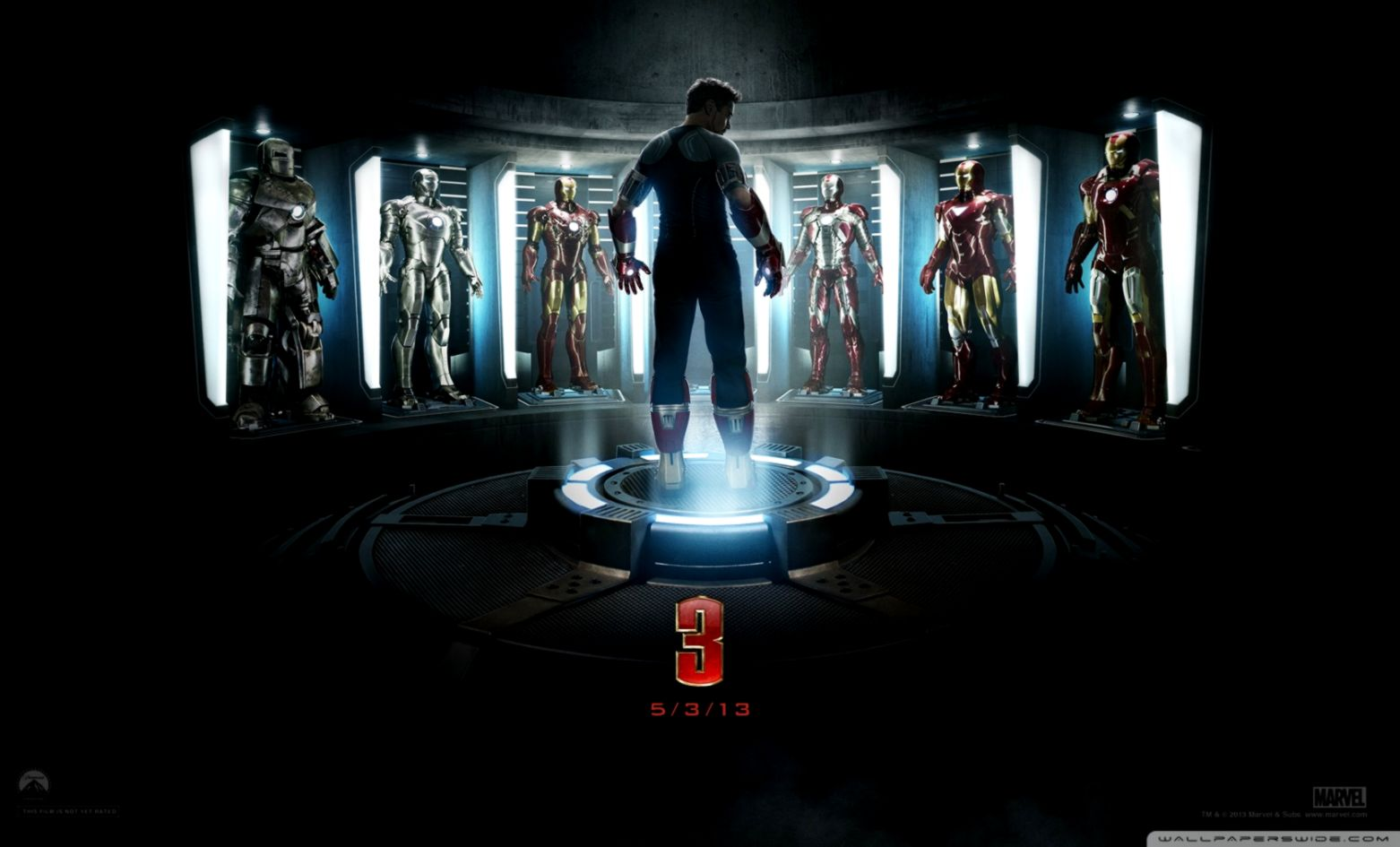 Iron Man 3 The Generation of Suits ❤ 4K HD Desktop Wallpaper