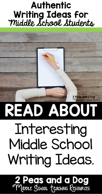 Authentic student writing ideas that will keep middle and high school students engaged during English class.