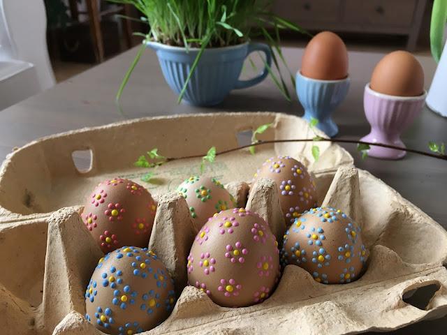 nazdobená velikonoční vajíčka