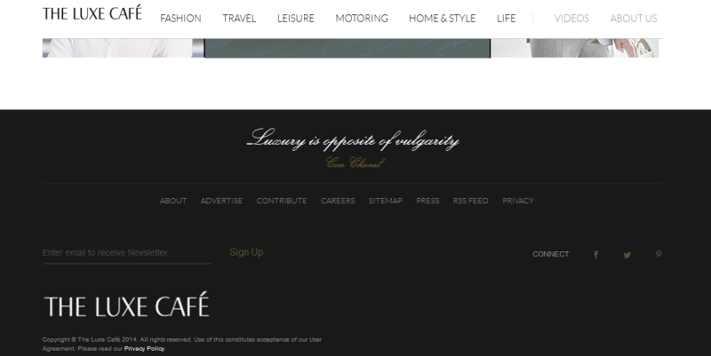 www.theluxecafe.com website review