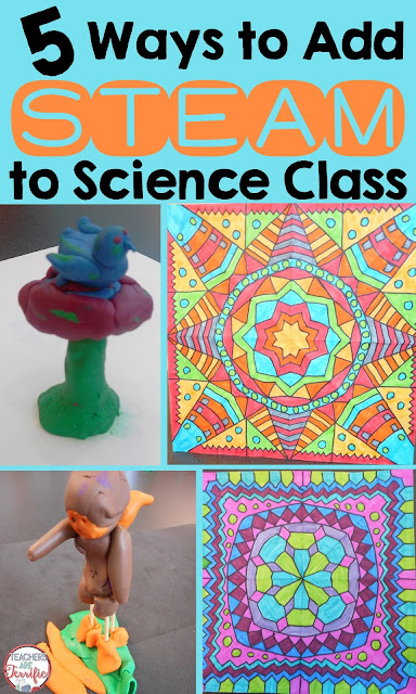STEM Challenges that turn into STEAM- Here are five ways your can add some art to your STEM and science classes!