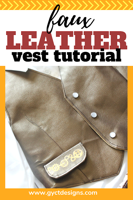 Make your own faux leather vest with this simple tutorial and a bit of Cricut faux leather. #CricutMade #Cricut #ad