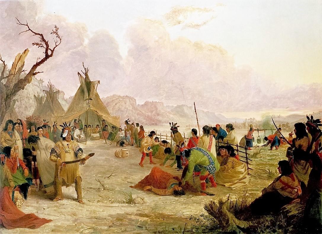 Native Americans: Medicine Dance of the Dakota or Sioux