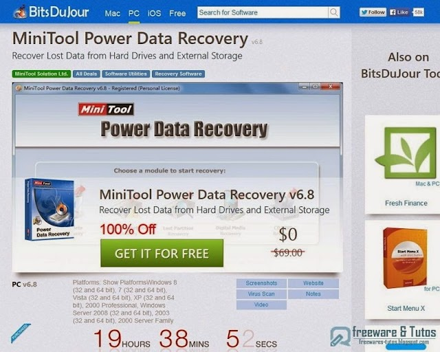 Offre promotionnelle : MiniTool Power Data Recovery gratuit !