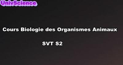Cours Biologie Des organismes Animaux SVT S2 PDF