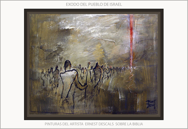 BIBLIA-EXODO-PINTURA-ARTE-PINTURAS-PUEBLO-ISRAEL-LECTURAS-BIBLICAS-ARTISTA-PINTOR-ERNEST DESCALS-