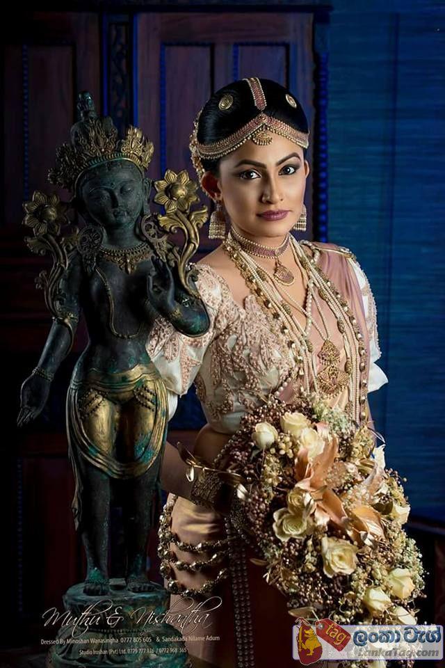 sri lankan kandyan wedding dress