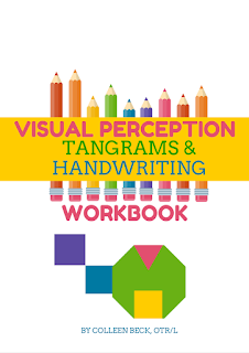 Visual Perception, Tangrams, & Handwriting Workbook