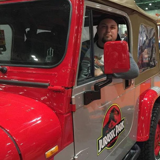 Jurassic Park Jeep at London MCM Comic Con 2016
