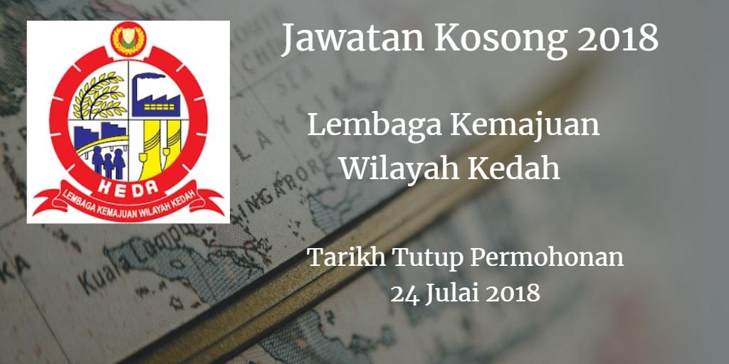 Jawatan Kosong KEDA 24 Julai 2018