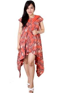 Model baju batik pesta minimalis