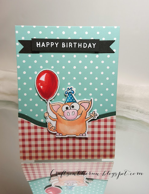 simon says stamps farm animals, birthday card, copic markers