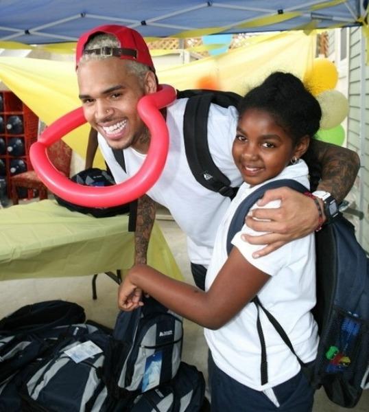Chris Brown Smiles wit...
