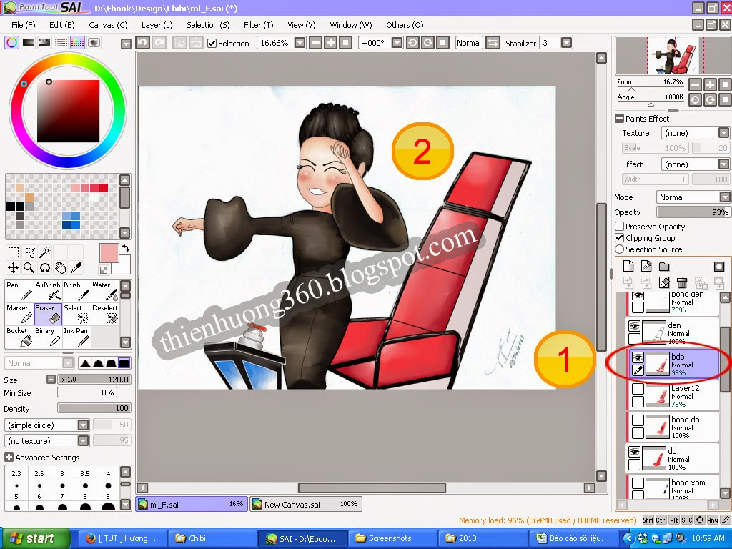 Hướng dẫn vẽ Chibi bằng Paint tool SAI