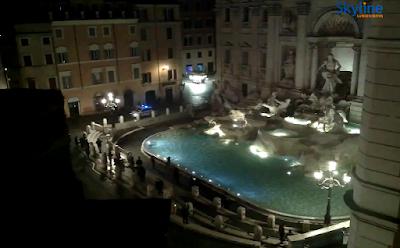 Câmera ao vivo Fontana di trevi Italia