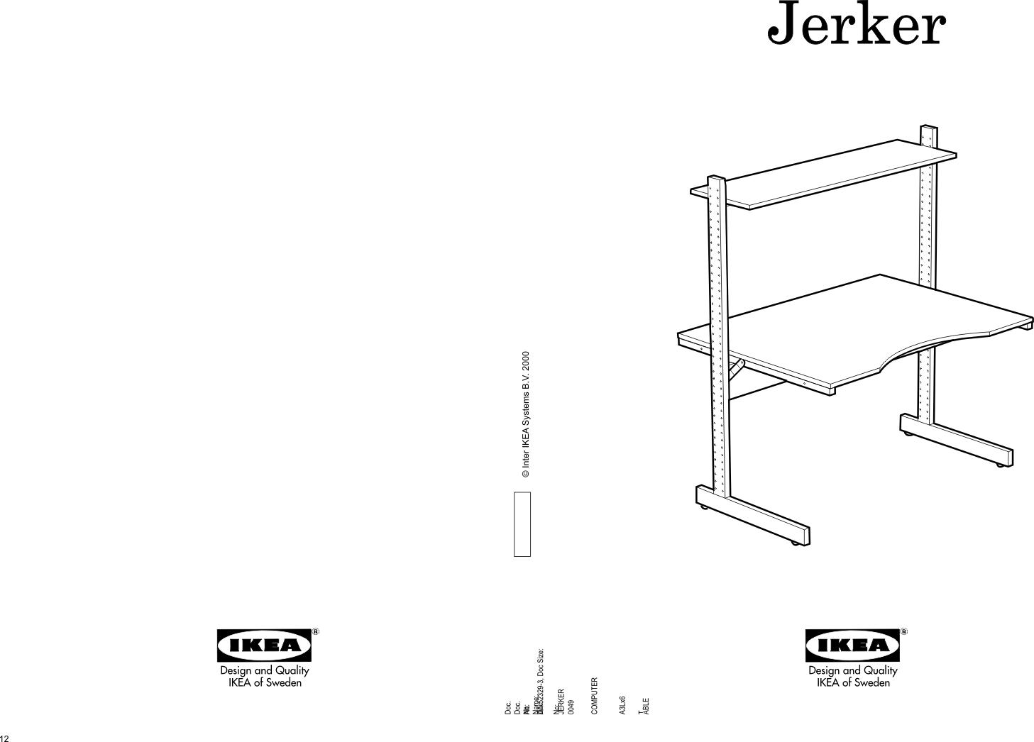 DingoBox: IKEA Jerker instrukcja montażu