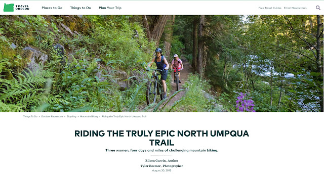 All female biking trip along the North Umpqua Trail.