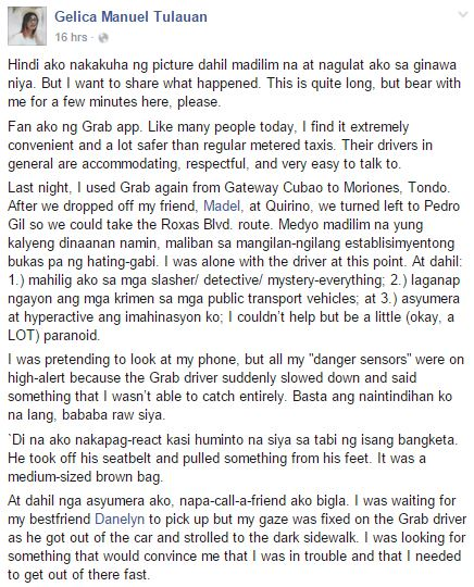 Passenger Was Surprised With The Actions Of A Grab Taxi Driver, What He Did Was Amazing!