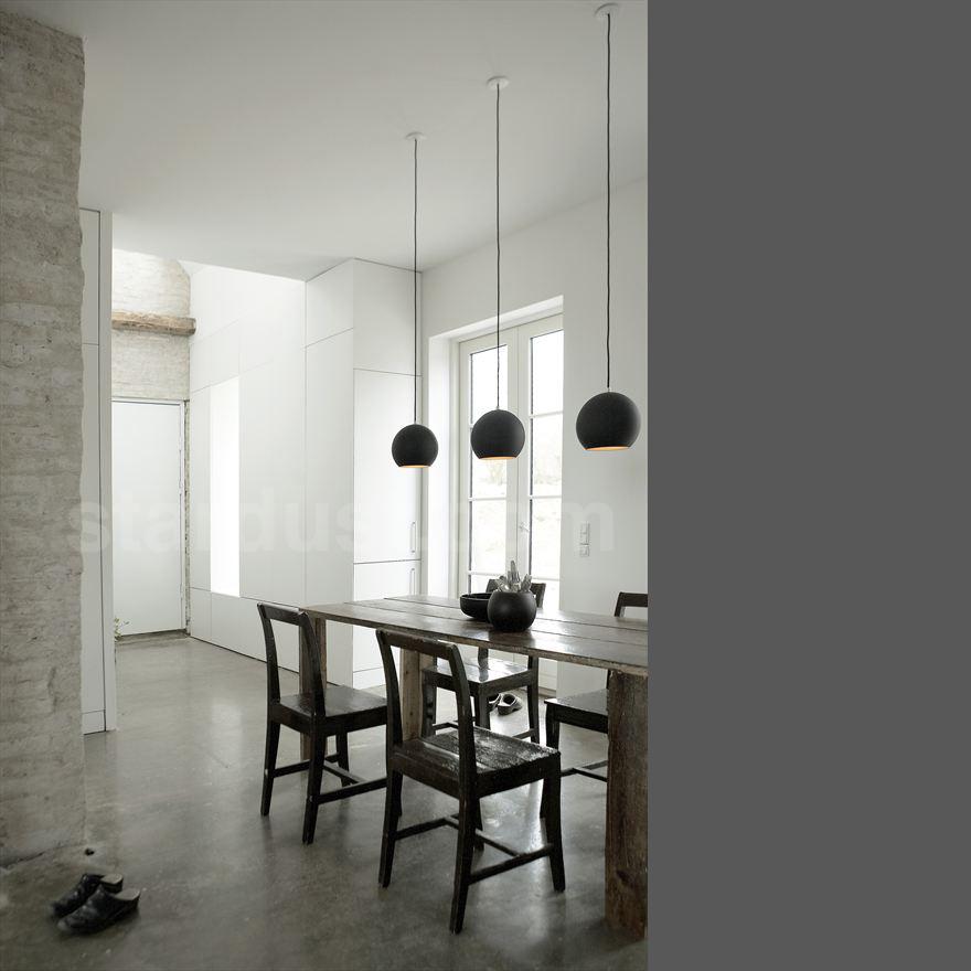 Topan Round Pendant Lamp Mid Century Modern Lamp Matte