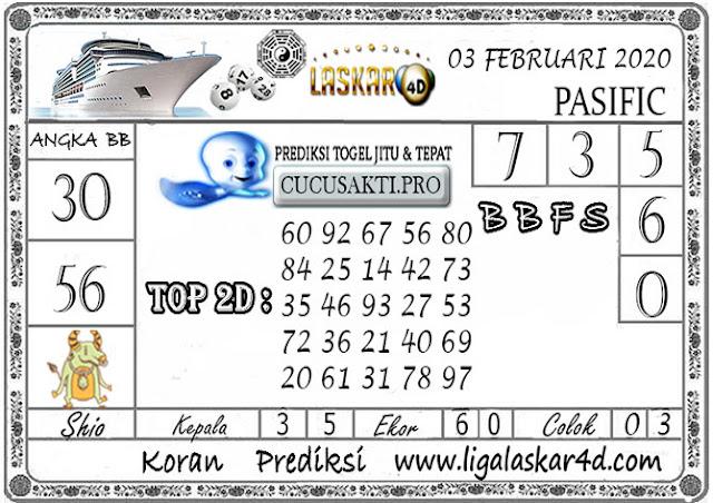 Prediksi Togel PASIFIC LASKAR4D 03 FEBRUARI 2020