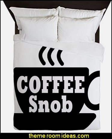 coffee snob Queen Duvet