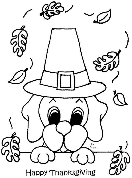 Simple Coloring Pages For Thanksgiving