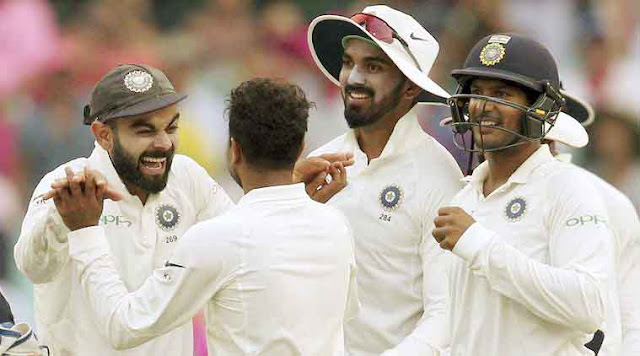 Soon after lunch, India roared back strongly and grabbed