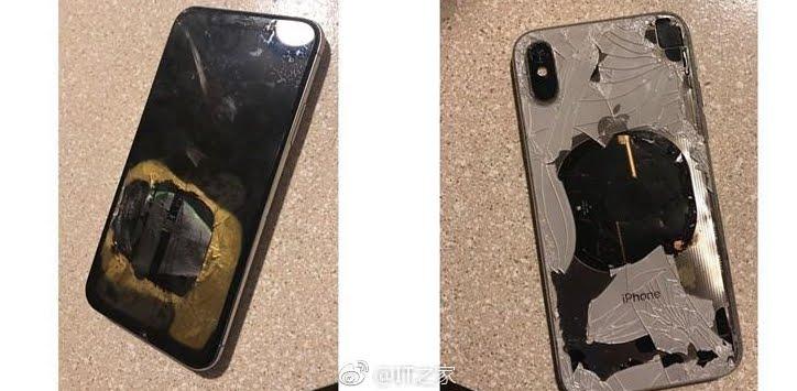 iPhone X prende fuoco dopo aver eseguito il nuovo aggiornamento iOS 12.1