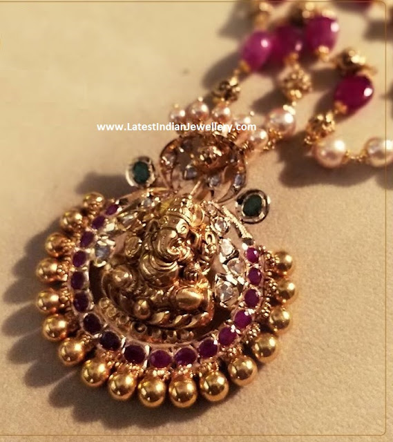 Ganesh Locket with Beaded Chain