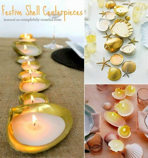 Shell Candle Centerpiece
