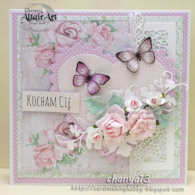 59. Kartka ślubna z motylami
