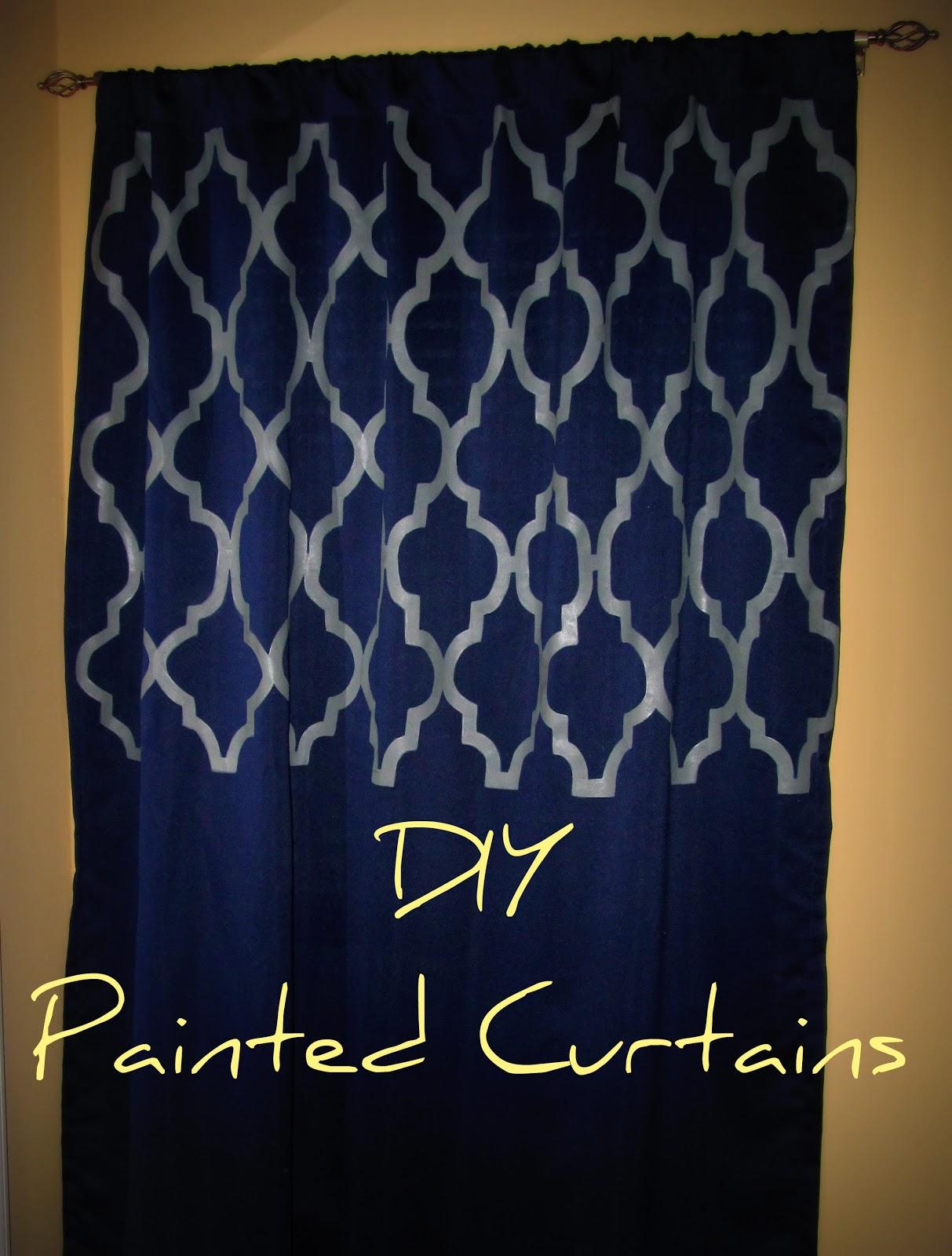 Bit Of Blue Sky Diy Painted Curtains
