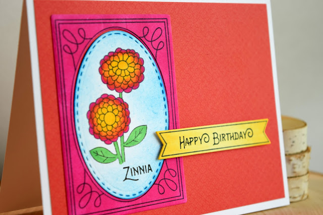 Floral Birthday Card by Jess Crafts for Newton's Nook Designs