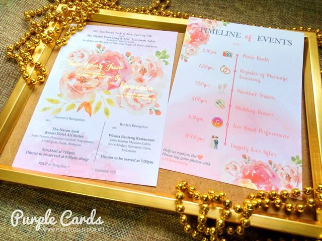 Wedding Anniversary Gift Delivery Singapore : Wedding card, invitation, invites, kad kahwin, ?????, annual ...