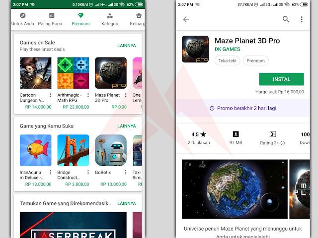 Cara Download Aplikasi Berbayar Playstore Secara Gratis 100% Work
