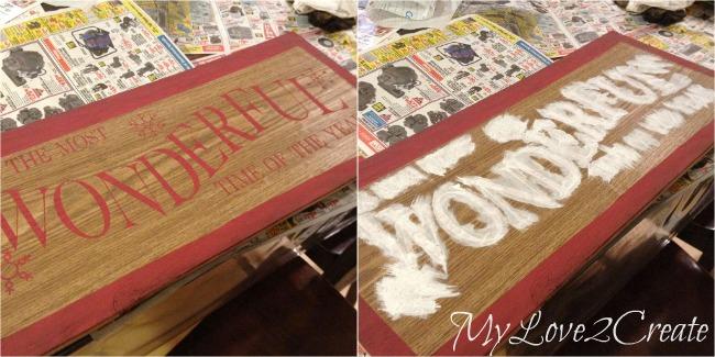 Contact paper stencil