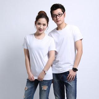 áo thun cổ tròn màu trắng nam nữ