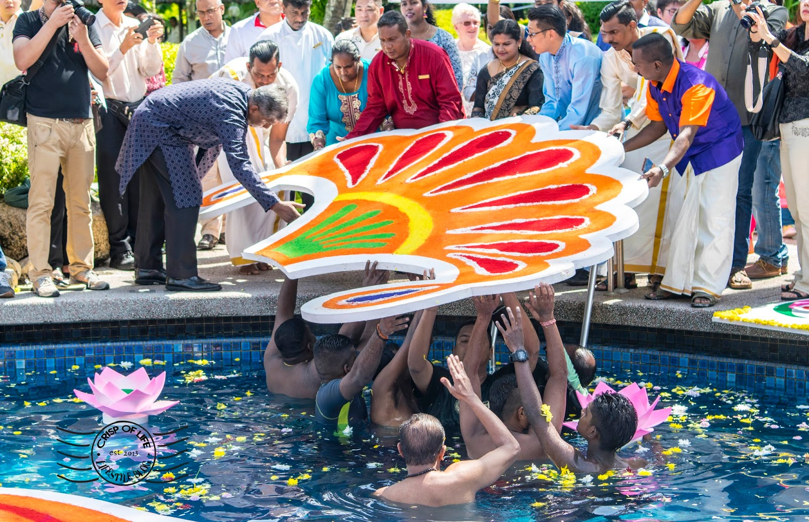 """Penang's Golden Sand Resorts Created Malaysia's Largest Floating """"Kolam"""" in the Pool"""