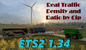 Real Traffic Density and Ratio ETS2 1.34.a