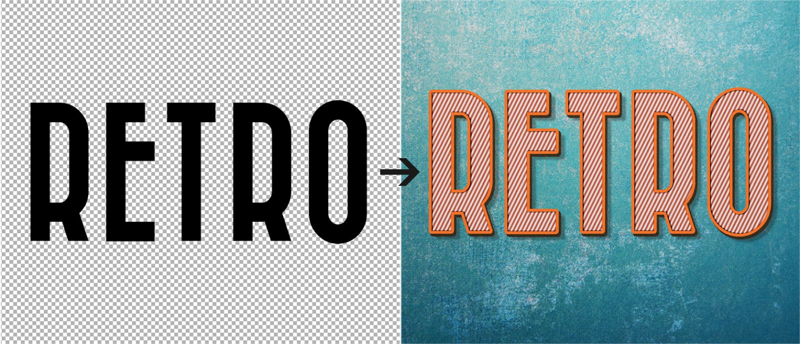 How To Create a Cool, Editable Retro Text Effect in