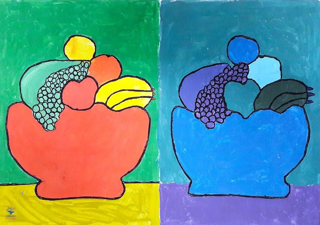 Dibujo Educativo Armonía De Colores Cálidos Y Fríos Ce1718