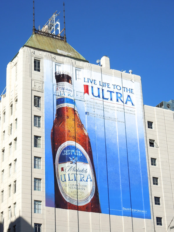 Giant Michelob Ultra beer billboard