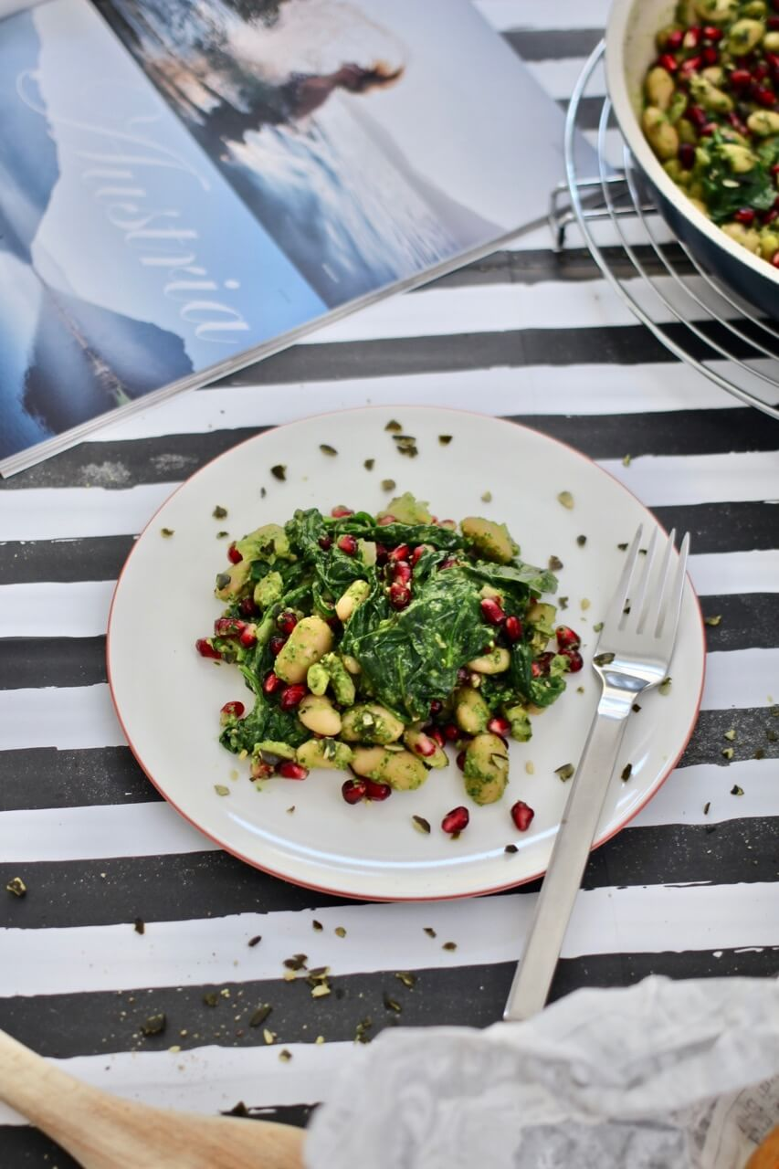 Rezept lauwarmer Bohnensalat