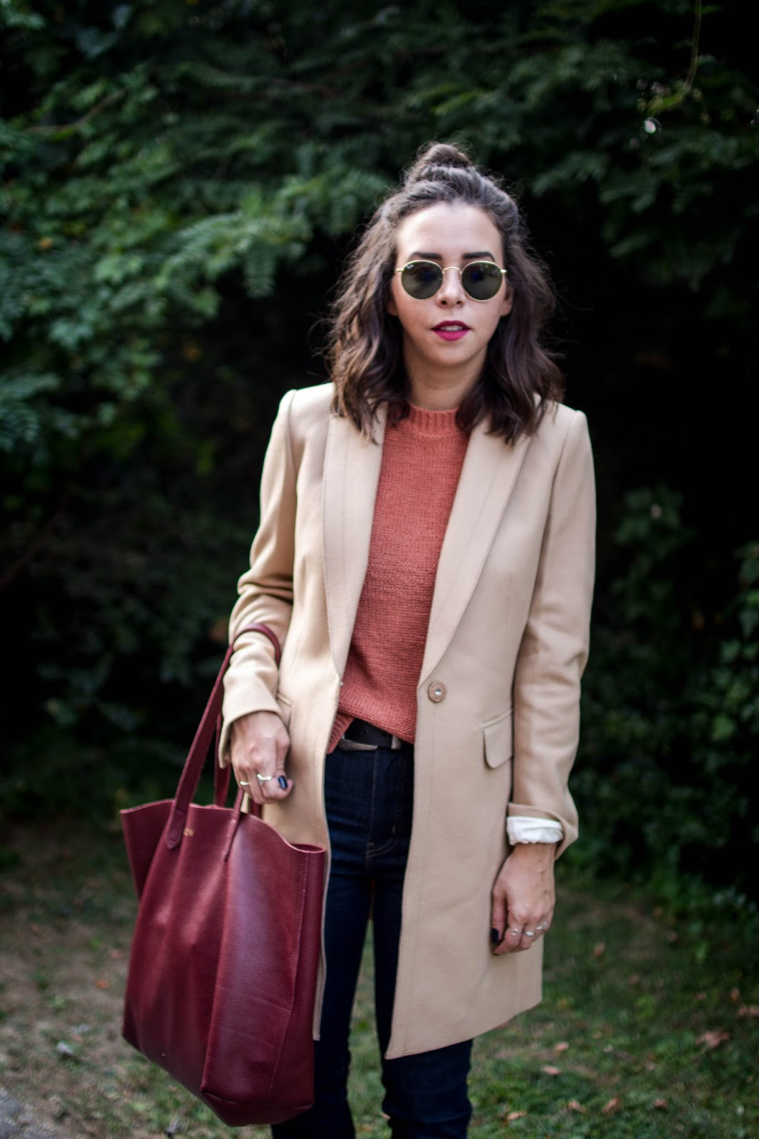 How to wear a camel coat. | A.Viza Style | banana republic wool coat - cuyana tote bag -  levi high waist jeans - leather oxford shoes - dc blogger
