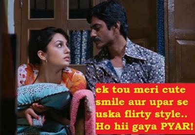 "2 Line Status in hindi - Cute love status in hindi - ""Cute smile, flirty style"""