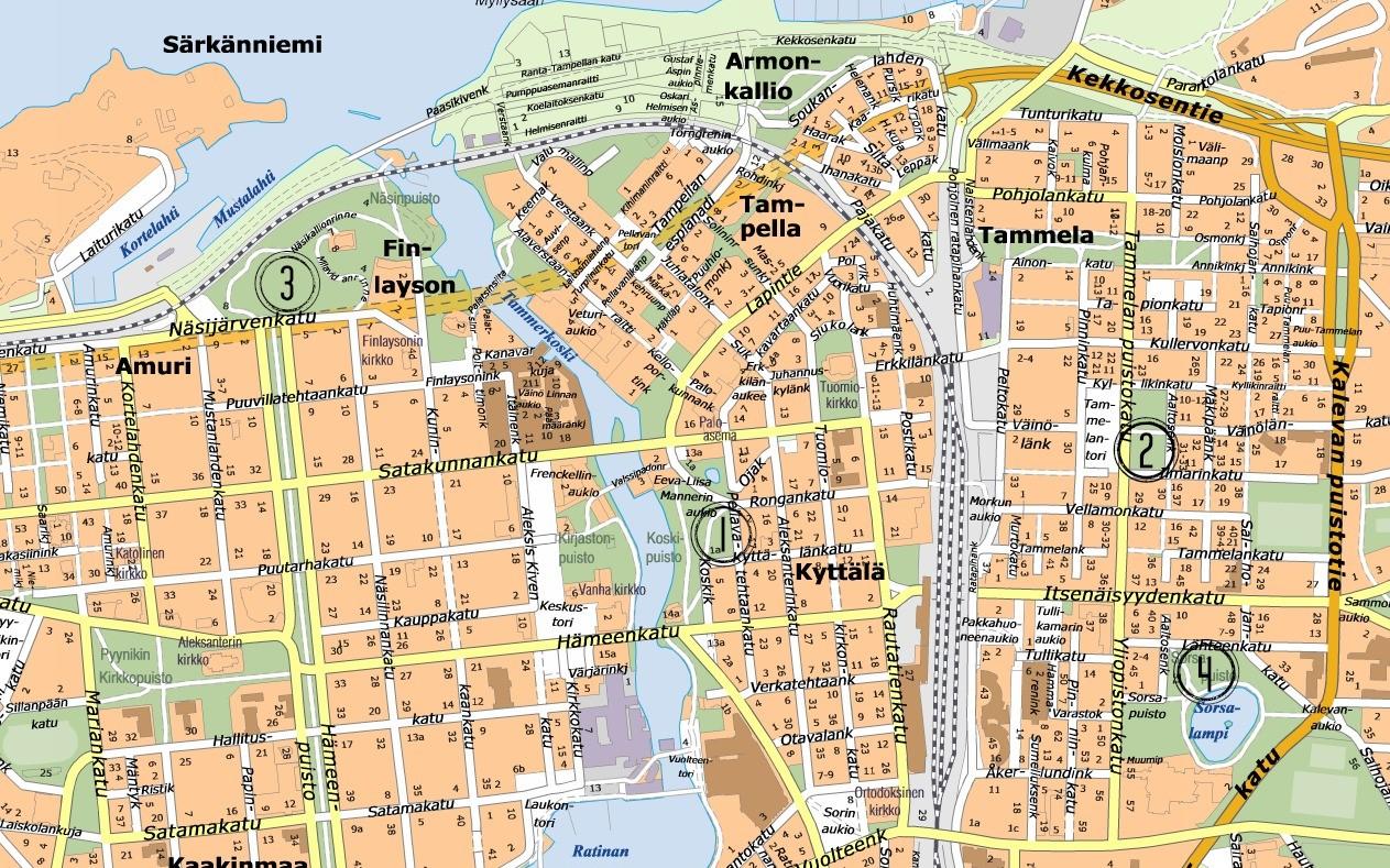 Tampere Kartta Keskusta | Kartta