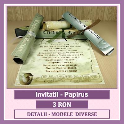 http://www.bebestudio11.com/2017/01/invitatii-nunta-papirus.html