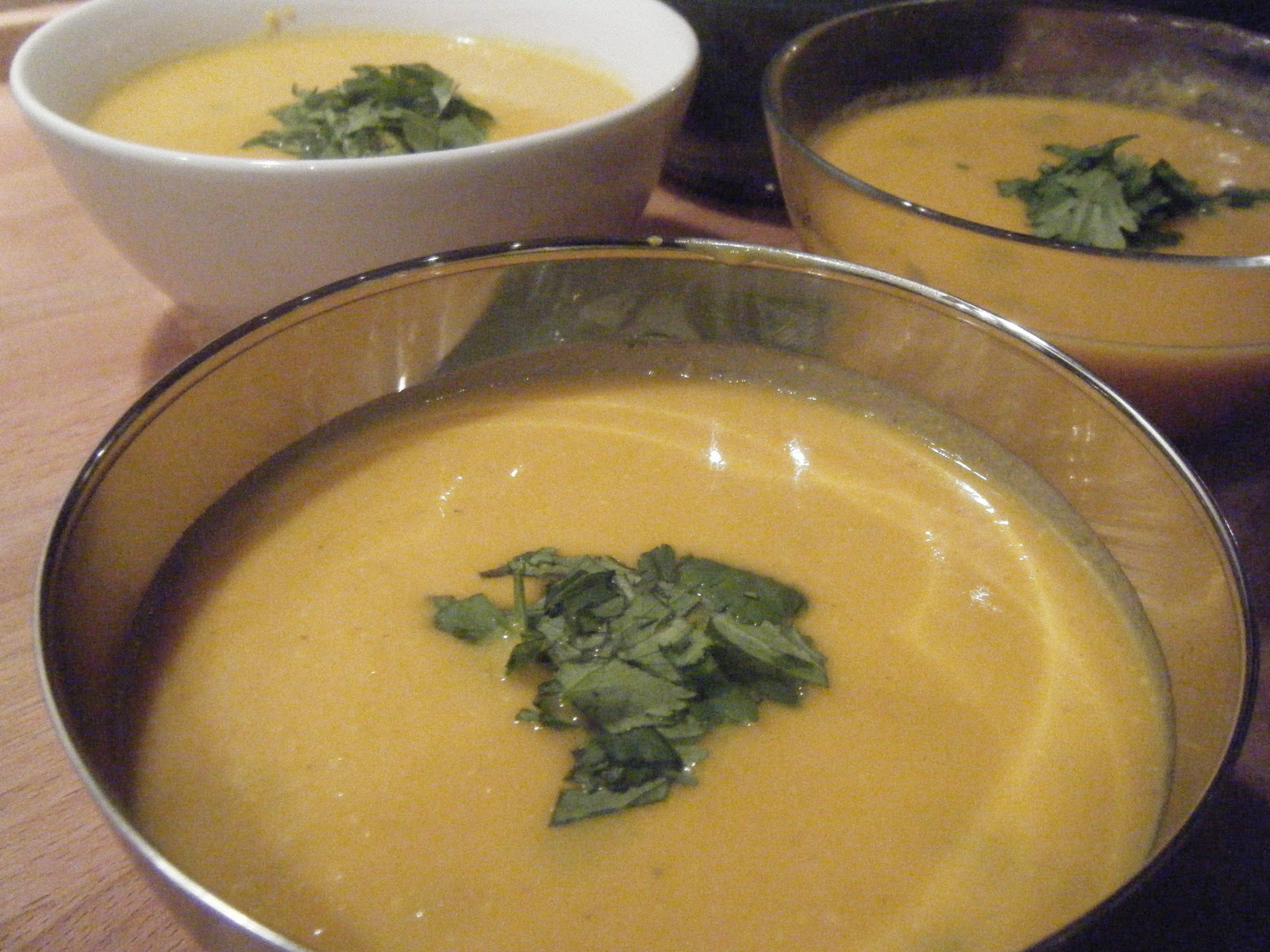 Soupe de carotte aux pois cassés